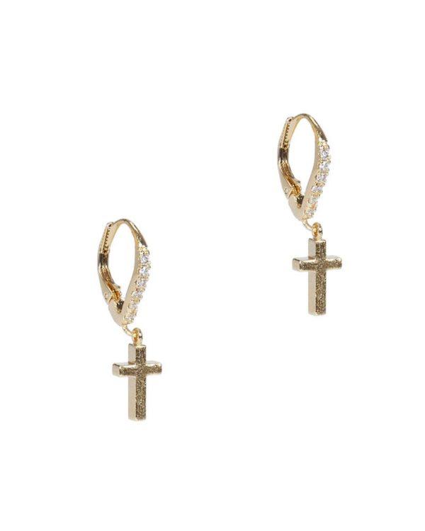 Aretes alargados cruz