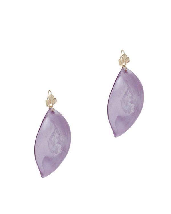 Pendientes concha púrpura