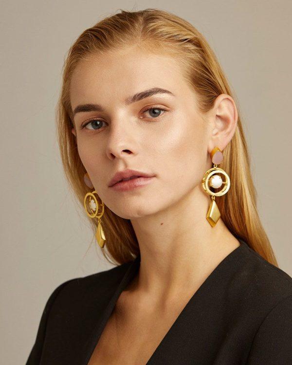 Pendientes geométricos perlas